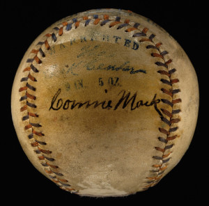 Connie Mack autographed baseball