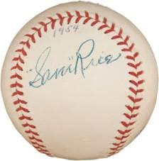 Signed Sam Rice ball