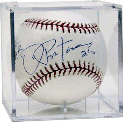 signed baseball cube holder